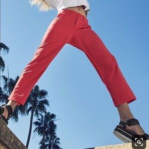 NWT! Athleta Tribeca Utility Crop Pant in Red!